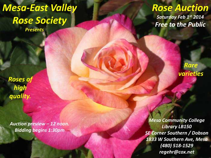 2014 Rose Auction flyer